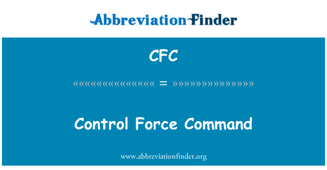 CFC: Control Force Command