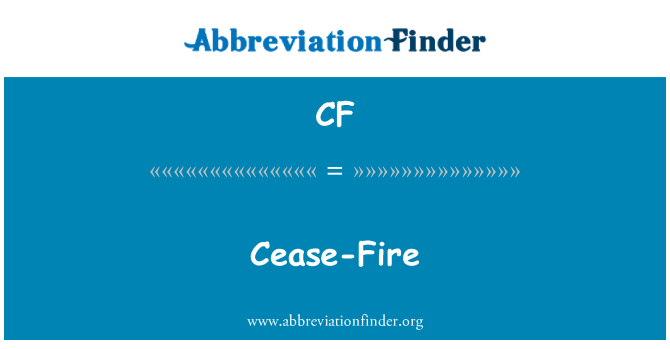 CF: Cease-Fire