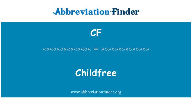 CF: Childfree