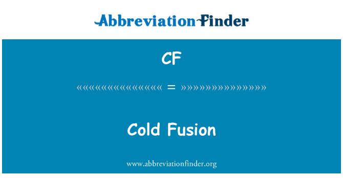 CF: Cold Fusion