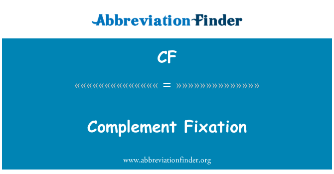 CF: Complement Fixation