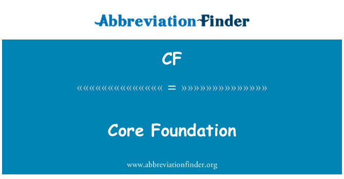 CF: Core Foundation