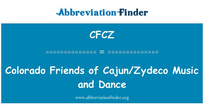 CFCZ: Colorado amigos de baile y música Cajun/Zydeco