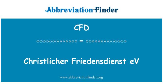 CFD: Christlicher Friedensdienst eV