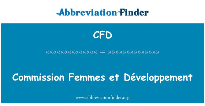 CFD: Commission Femmes et Développement