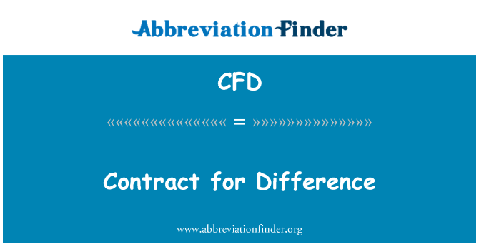 CFD: Contract for Difference