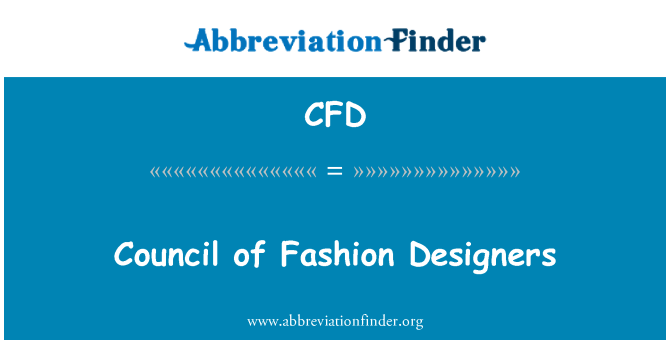 CFD: Council of Fashion Designers