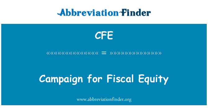 CFE: Campaign for Fiscal Equity