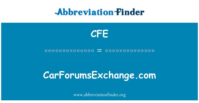 CFE: CarForumsExchange.com