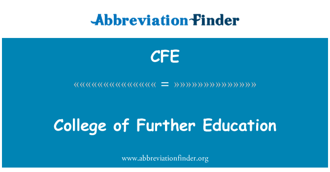 CFE: College of Further Education