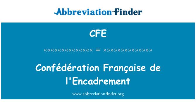 CFE: Confédération Française de l'Encadrement
