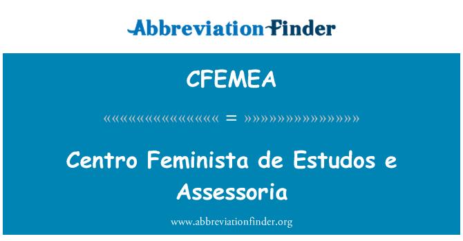 CFEMEA: Centro Feminista de Estudos e Assessoria