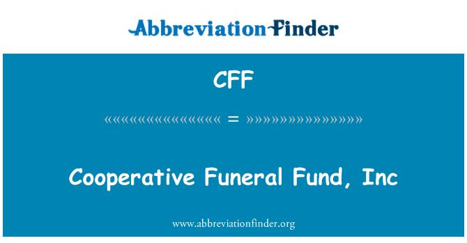 CFF: Cooperative Funeral Fund, Inc