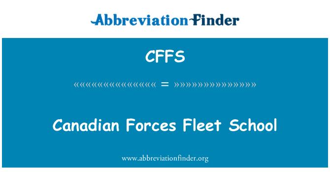 CFFS: Kanada väed laevastiku kooli