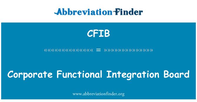 CFIB: Ettevõtte korralduslik integreeritus juhatuse
