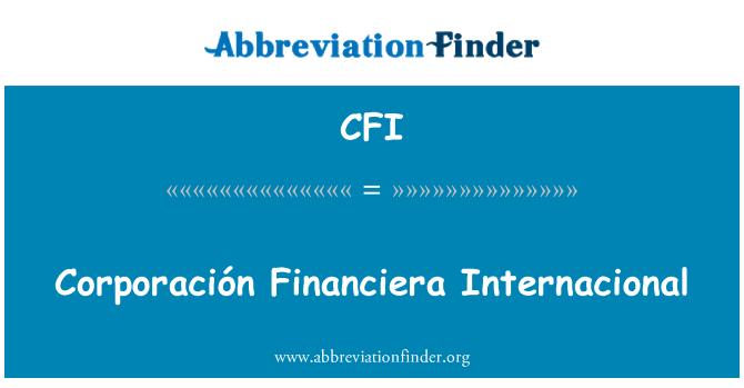 CFI: Corporación Financiera Internacional