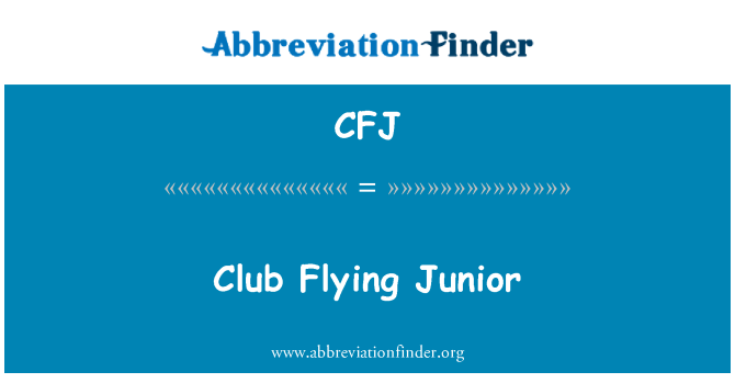 CFJ: Flying Club Junior
