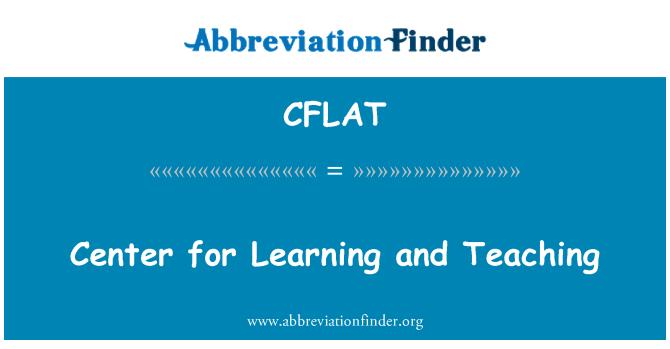 CFLAT: Centro de enseñanza y aprendizaje