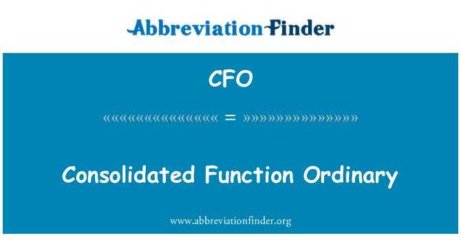 CFO: Consolidated Function Ordinary