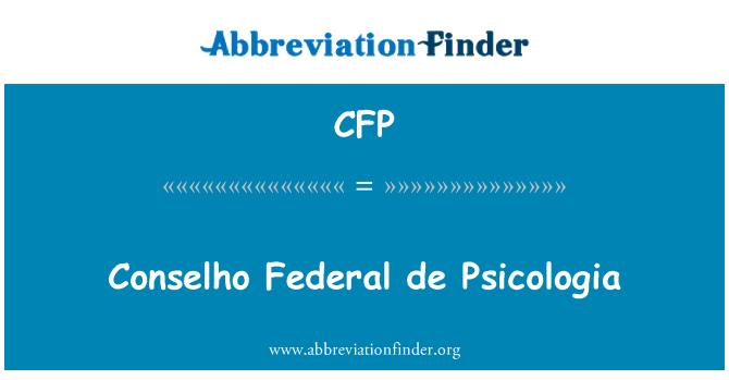 CFP: Conselho Federal de Psicologia
