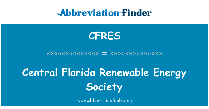 CFRES: Central Florida Renewable Energy Society
