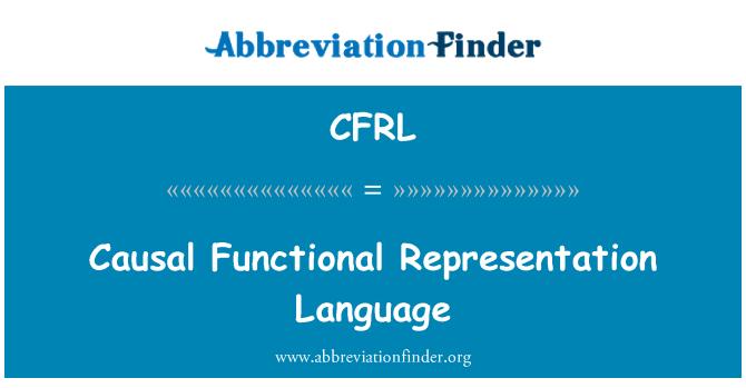 CFRL: Causal Functional Representation Language