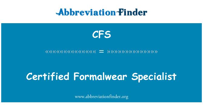 CFS: Certified Formalwear Specialist