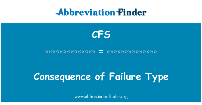 CFS: Consequence of Failure Type
