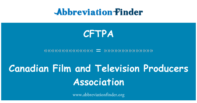 CFTPA: Canadian Film and Television Producers Association