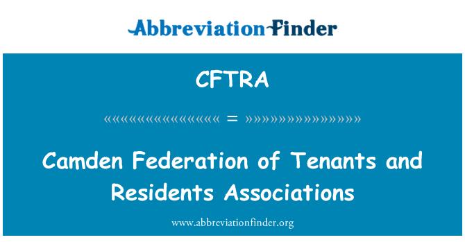 CFTRA: Camden Federation of Tenants and Residents Associations