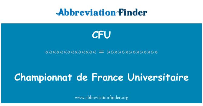 CFU: Championnat de France Universitaire