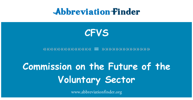 CFVS: Suruhanjaya tentang masa depan sektor sukarela