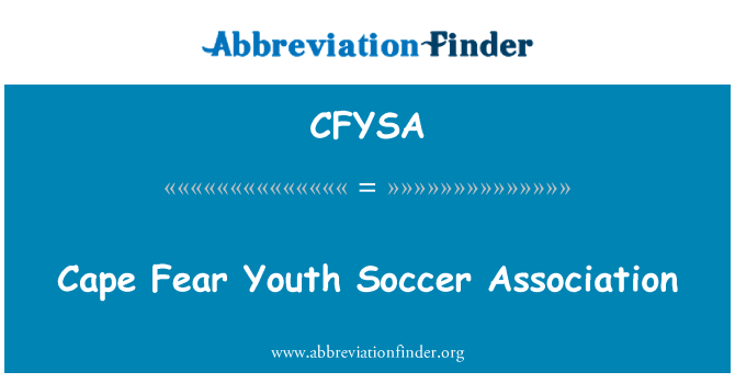 CFYSA: Cape Fear Youth Soccer Association