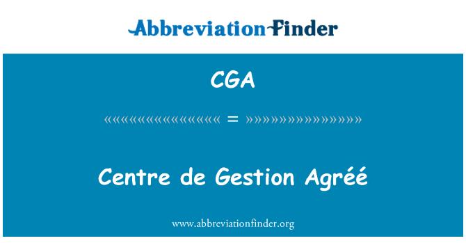 CGA: Centre de Gestion Agréé