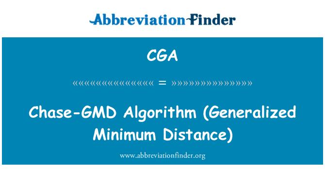 CGA: Chase-GMD   Algorithm (Generalized Minimum Distance)
