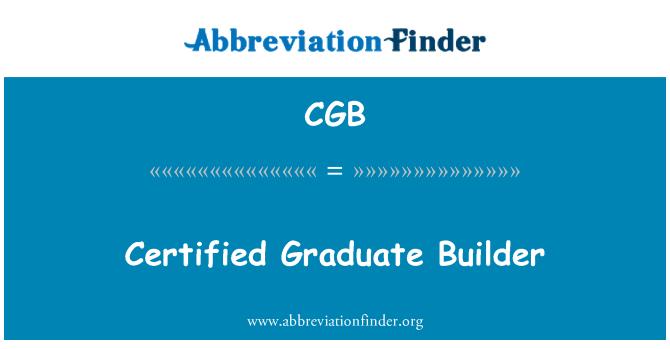 CGB: Certified Graduate Builder