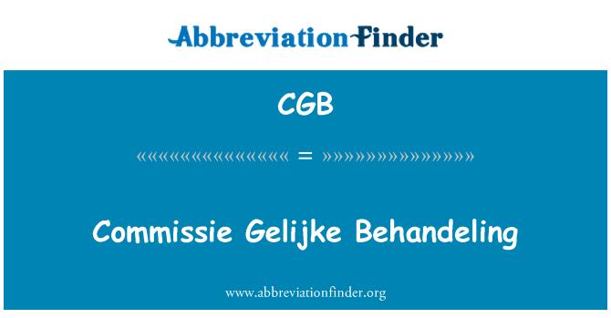CGB: Commissie Gelijke Behandeling