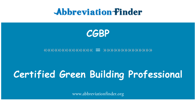 CGBP: Certified Green Building Professional