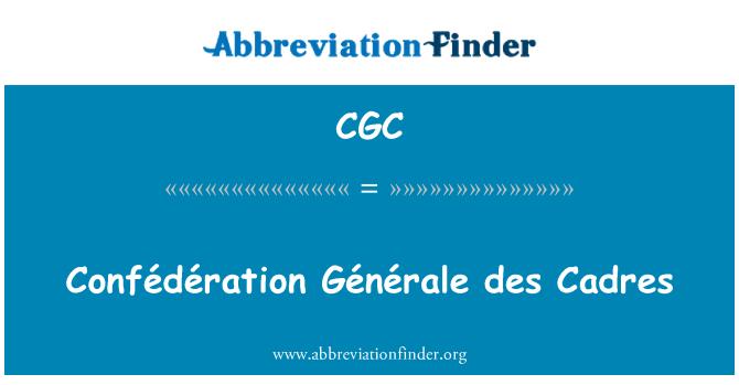 CGC: Confédération Générale des Cadres