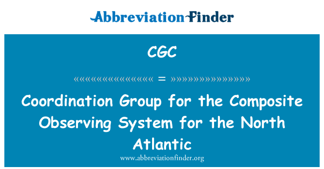 CGC: Coordination Group for the Composite Observing System for the North Atlantic