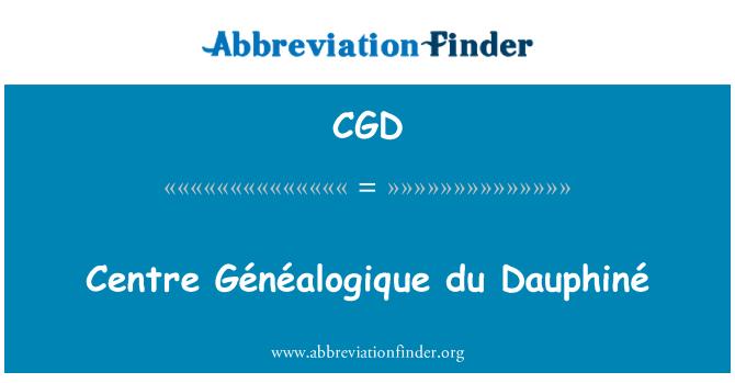 CGD: Centre Généalogique du Dauphiné