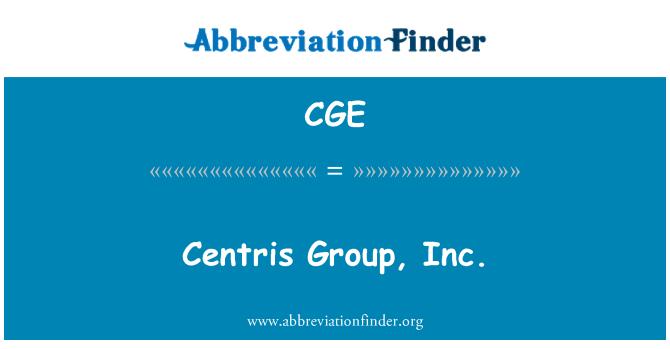 CGE: Centris Group, Inc.