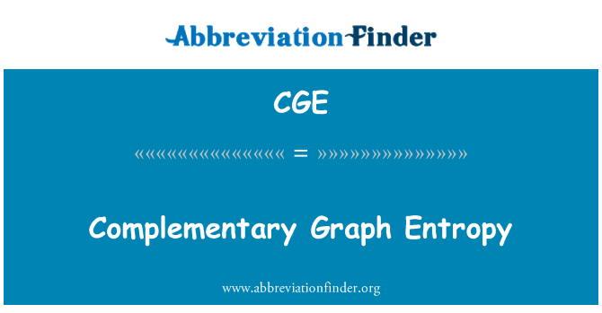 CGE: Complementary Graph Entropy