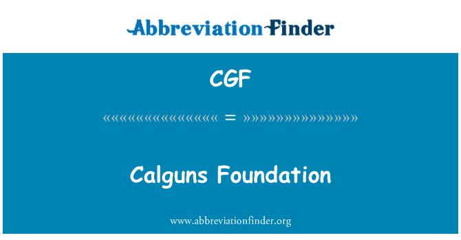 CGF: Calguns Foundation