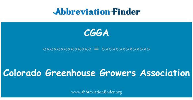 CGGA: Colorado Greenhouse Growers Association