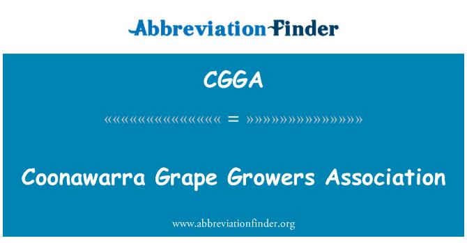 CGGA: Coonawarra Grape Growers Association