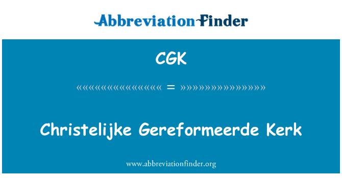 CGK: Christelijke Gereformeerde Kerk