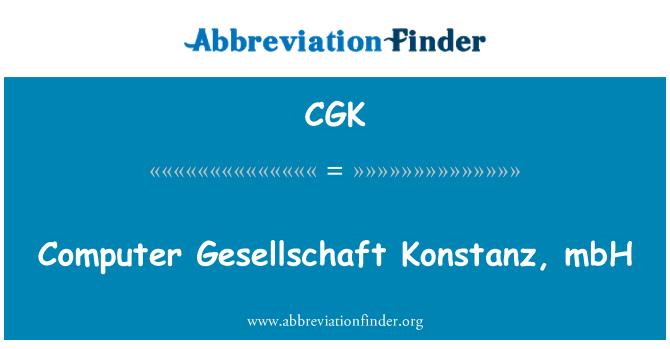 CGK: Computer Gesellschaft Konstanz, mbH