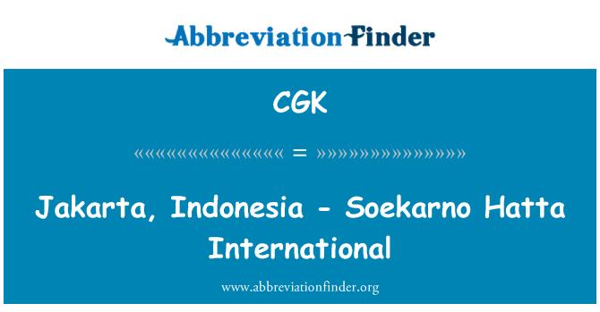 CGK: Jakarta, Indonesia - Soekarno Hatta International
