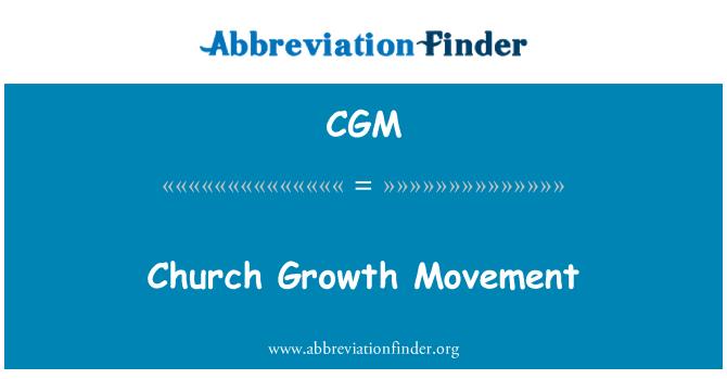 CGM: Church Growth Movement